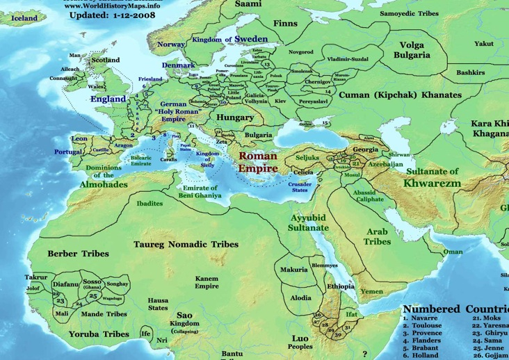 Eastern Hemisphere Map With Names History, Cultur...