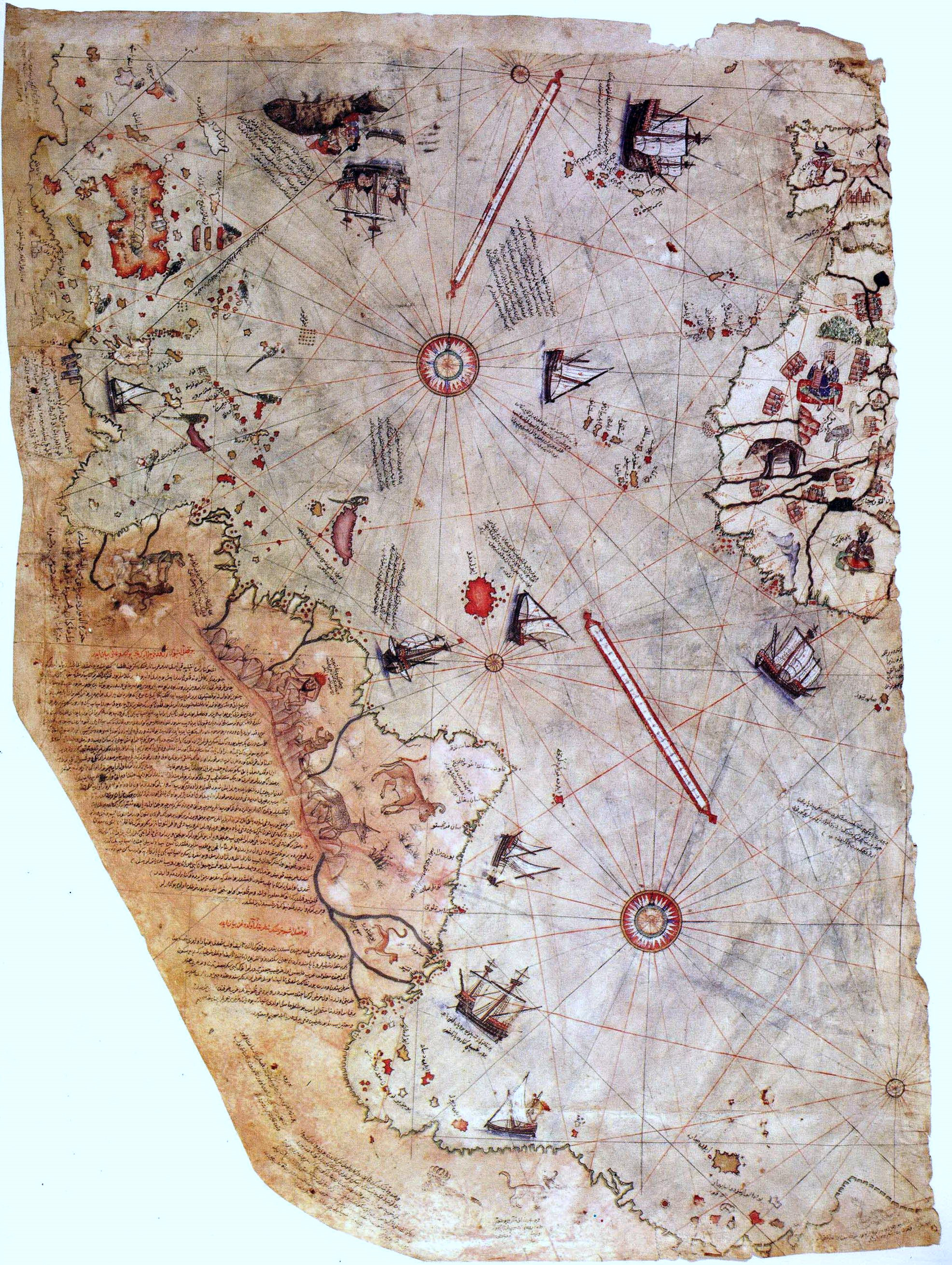 Oldest Known World Map.Piri Reis A Genius 16th Century Ottoman Cartographer And Navigator