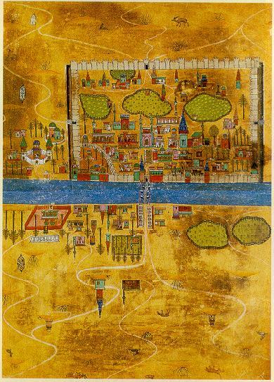 رَسَم مجموعة من المدن والحواضر التابعة للخلافة العثمانية
