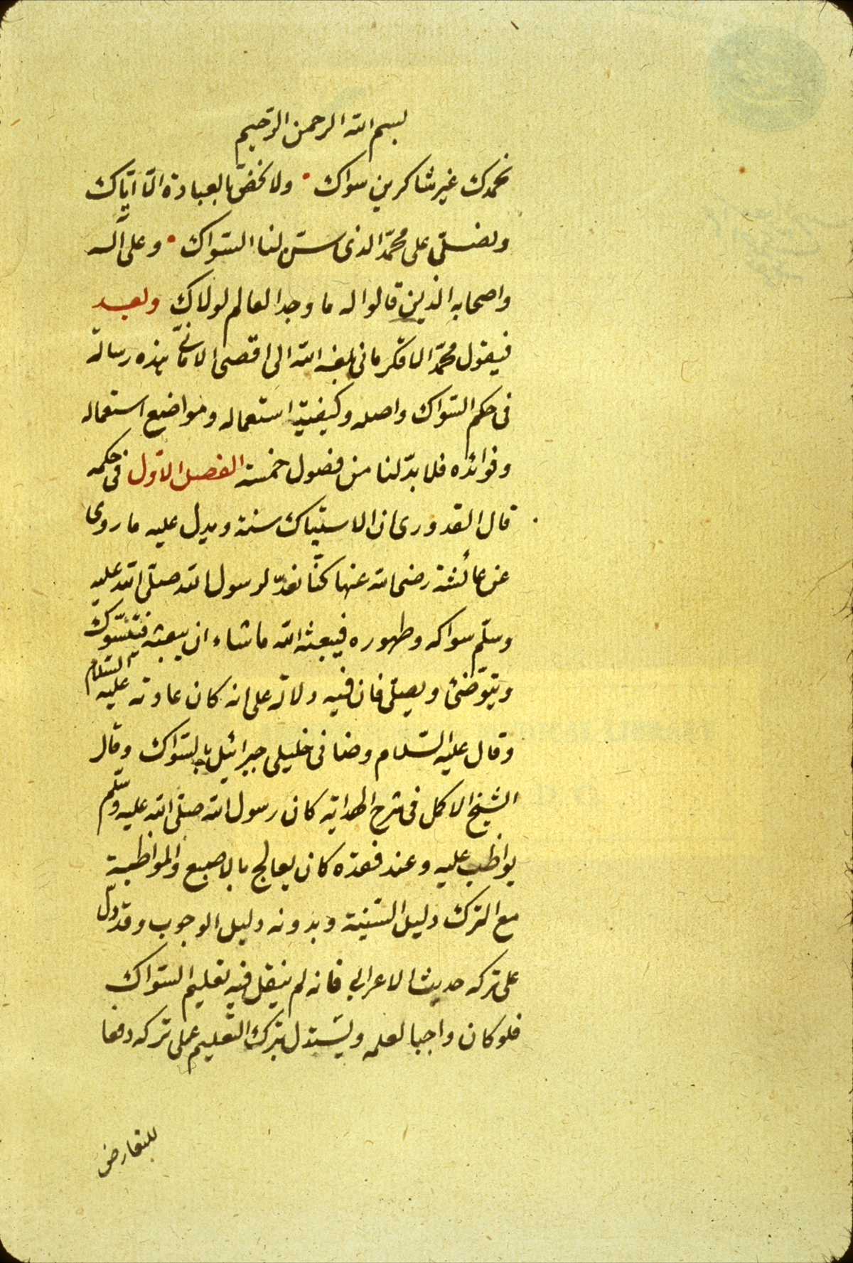 Dental Care in Islamic Medical Science: Muhammad al-Aqkirmani (d. 1760) and his Risalah fi hukm al-Siwak