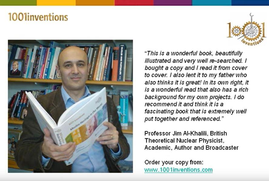 1001 Inventions Book Endorsements