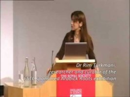 Dr. Rim Turkmani speaking at The Royal Society (Arabick Roots)
